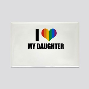 I love my gay daughter Rectangle Magnet