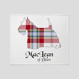 Terrier-MacLeanDuart dress Throw Blanket