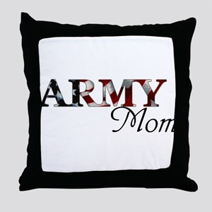 Army Mom (Flag) Throw Pillow