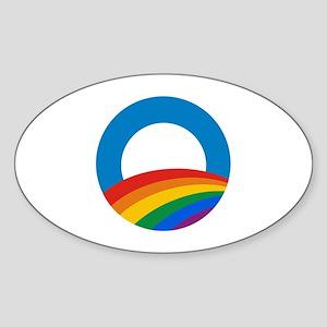 Obama Pride Oval Sticker
