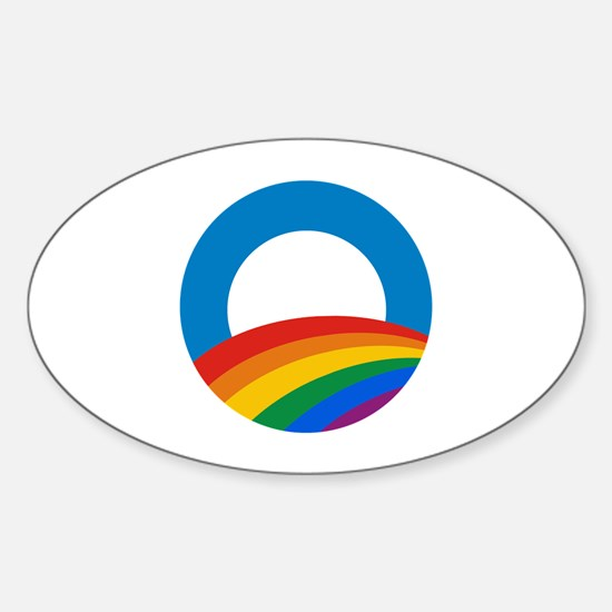 Obama Pride Oval Decal