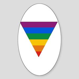 Pride Triangle Oval Sticker