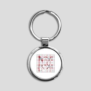 Monogram-MacLeanDuart dress Round Keychain