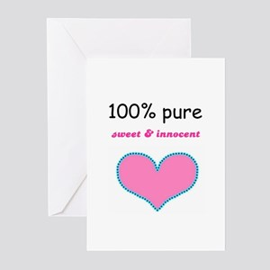 PURE, SWEET AND INNOCENT Greeting Cards (Package o