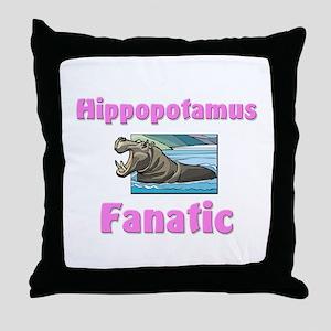 Hippopotamus Fanatic Throw Pillow