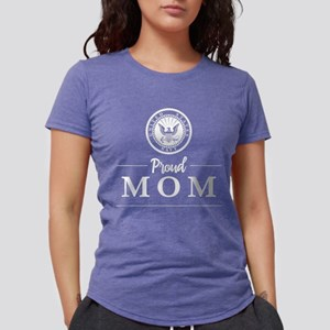 U.S. Navy Proud Mom Womens Tri-blend T-Shirt