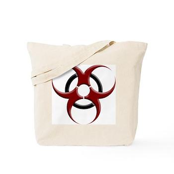 3D Biohazard Symbol Tote Bag