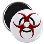 3D Biohazard Symbol Magnet