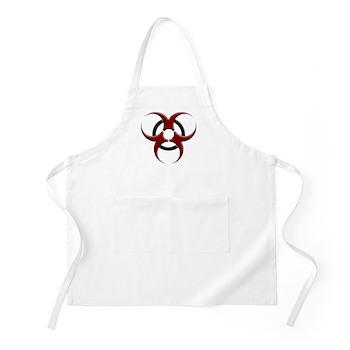 3D Biohazard Symbol Apron