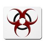 3D Biohazard Symbol Mousepad