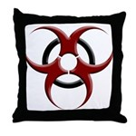 3D Biohazard Symbol Throw Pillow