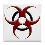 3D Biohazard Symbol Tile Coaster