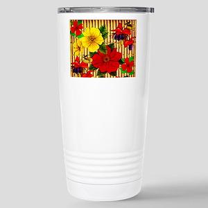 Bamboo Flowers 16 oz Stainless Steel Travel Mug