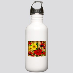 Bamboo Flowers Stainless Water Bottle 1.0L