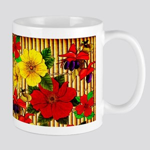 Bamboo Flowers 11 oz Ceramic Mug