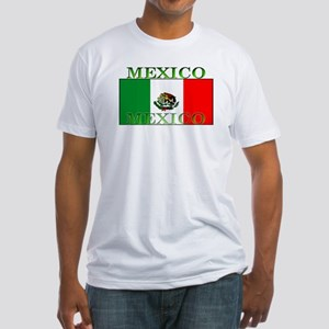 Mexico Mexican Flag Fitted T-Shirt