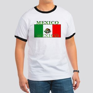 Mexico Mexican Flag Ringer T