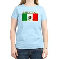Mexico Mexican Flag Women's Pink T-Shirt