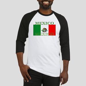 Mexico Mexican Flag Baseball Jersey