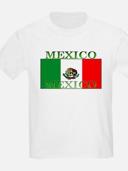 Mexico Mexican Flag Kids T-Shirt