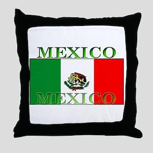 Mexico Mexican Flag Throw Pillow