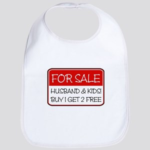 4SALE HUSB/KIDS (red) Bib
