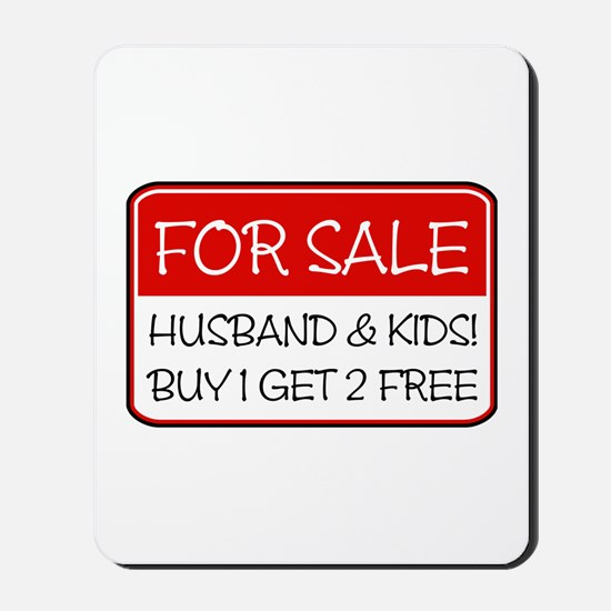4SALE HUSB/KIDS (red) Mousepad
