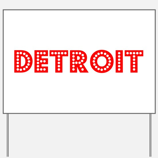Retro Detroit (Red) Yard Sign