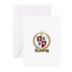 BERUBE Family Crest Greeting Cards (Pk of 10)