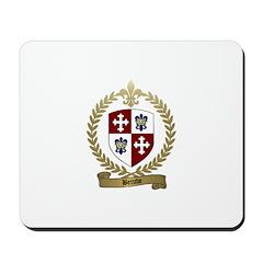 BERUBE Family Crest Mousepad