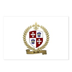 BERUBE Family Crest Postcards (Package of 8)
