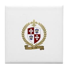 BERUBE Family Crest Tile Coaster
