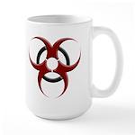 3D Biohazard Symbol Large Mug