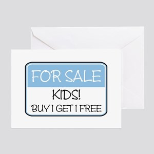 FOR SALE: KIDS! (blue) Greeting Card