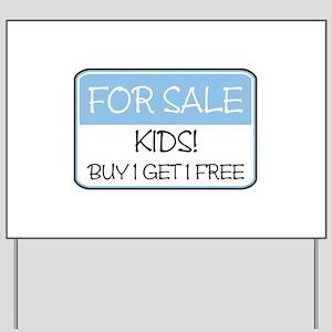 FOR SALE: KIDS! (blue) Yard Sign