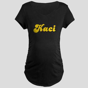 Retro Kaci (Gold) Maternity Dark T-Shirt