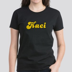 Retro Kaci (Gold) Women's Dark T-Shirt