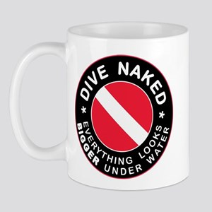 Dive Naked Bigger Under Water Mug