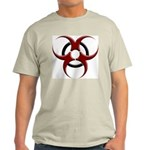 3D Biohazard Symbol Light T-Shirt