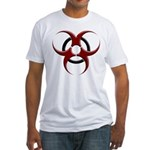 3D Biohazard Symbol Fitted T-Shirt