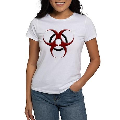 3D Biohazard Symbol Women's T-Shirt