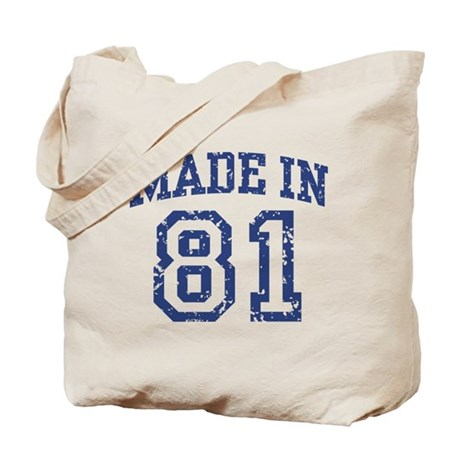 Made in 81 Tote Bag