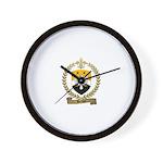 BERNIER Family Crest Wall Clock