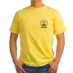 BERNIER Family Crest Yellow T-Shirt