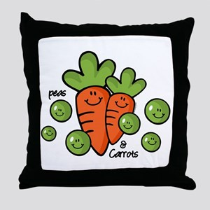 Peas And Carrots Throw Pillow