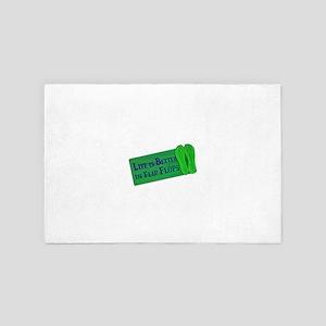 Life is Better in Flip Flops (Green) 4' x 6' Rug