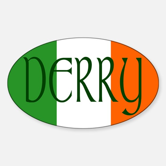 County Derry Oval Decal