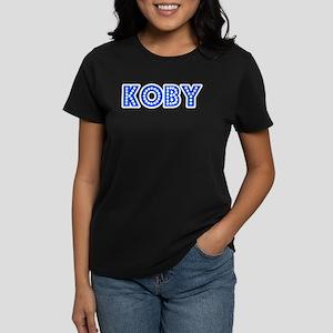 Retro Koby (Blue) Women's Dark T-Shirt