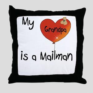 Mailman Throw Pillow