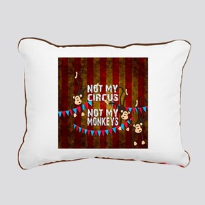 Monkeys NOT My Circus Rectangular Canvas Pillow